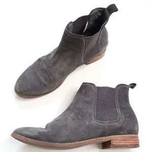 TOMS Ella Gray Suede Ankle Booties